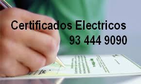 Certificado de instalación electrico